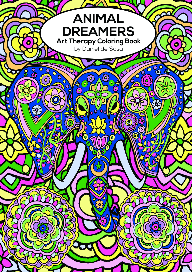 The art therapy coloring book - Animal Dreamers Art Therapy Coloring Book