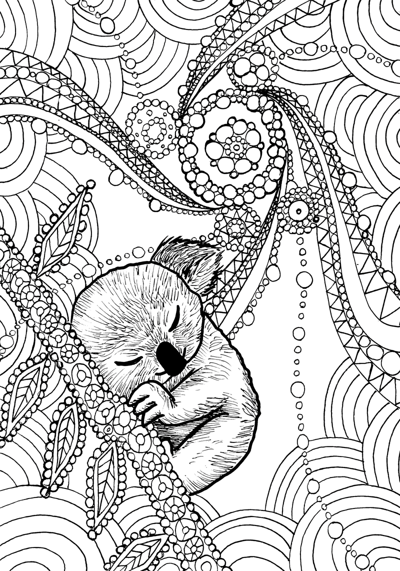 - Animal Dreamers Art Therapy Coloring Book - Backwards Burd Comics